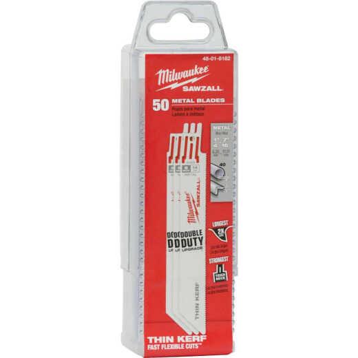 Milwaukee Sawzall 6 In. 14 TPI Metal Reciprocating Saw Blade (50-Pack)