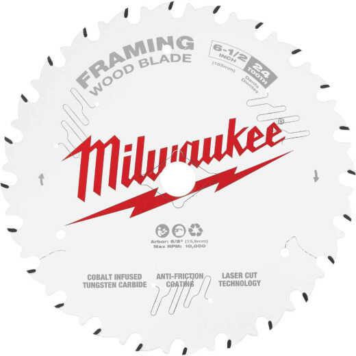 Milwaukee 6-1/2 In. 24-Tooth Framing Circular Saw Blade
