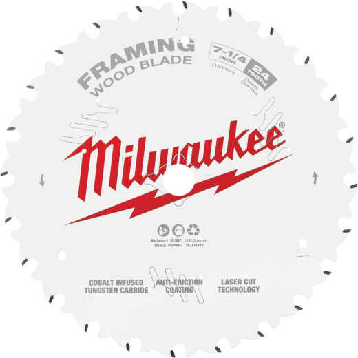Milwaukee 7-1/4 In. 24-Tooth Framing Circular Saw Blade