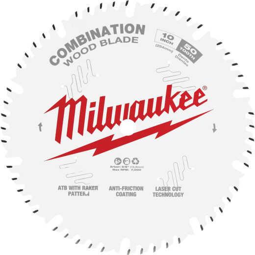 Milwaukee 10 In. 50-Tooth General Purpose Combination Wood Circular Saw Blade