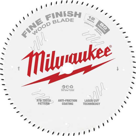 Milwaukee 12 In. 80-Tooth Fine Finish Circular Saw Blade