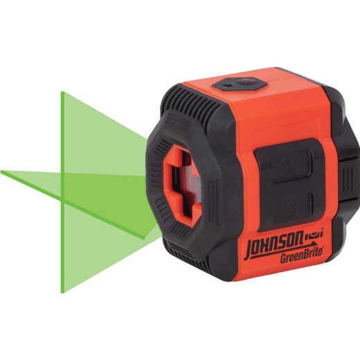 Johnson Level Self-Leveling Cross-Line Laser Kit with GreenBrite Technology