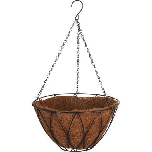 Best Garden 12 In. Steel Rod Black Powder Coat Hanging Plant Basket